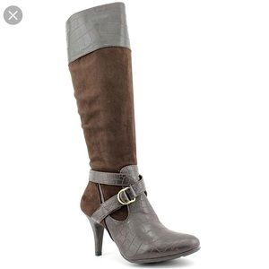 NATURAL SOUL BY NATURALIZER LIDIA BOOTS BROWN